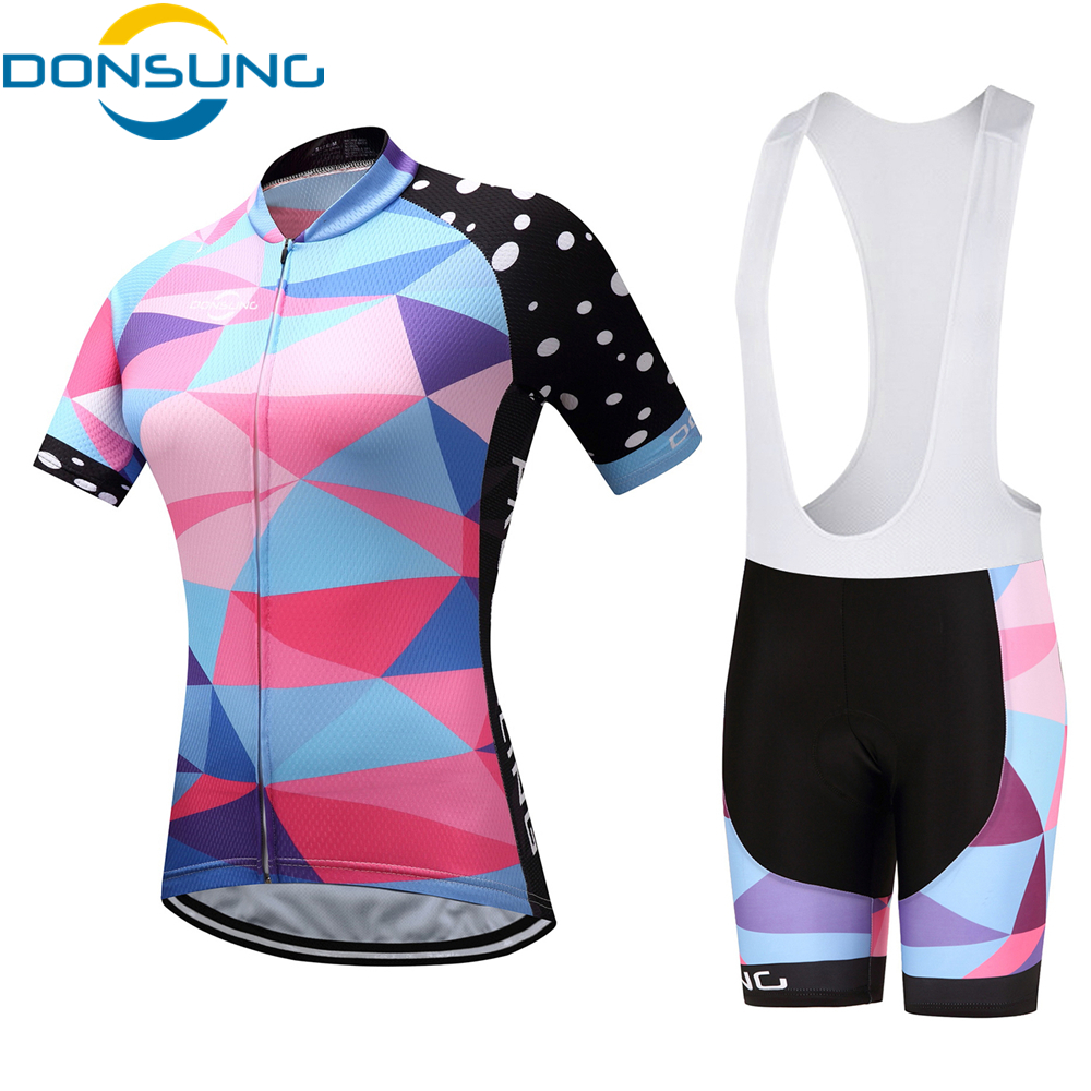Women Cycling Jersey Sets Breathable Short Sleeve Sport wear For MTB Bicycle 2017 Summer Outdoor Sport Cycling Clothes Ciclismo