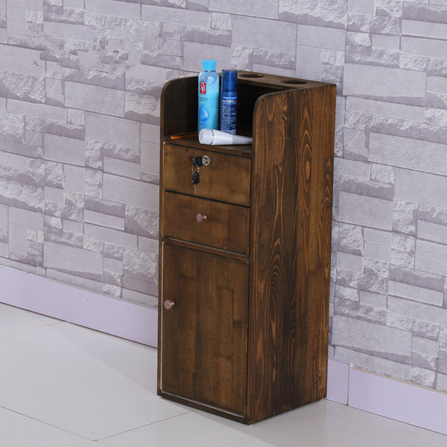 Cheap Wood Barber Shop Hair Salon Tool Cart Cabinet Retro Beauty Parlor  Products