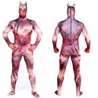 Halloween Zentai Costume Adult Werewolf Costumes Spandex Anime Super Hero Catsuit Cosplay Suits Bodysuit