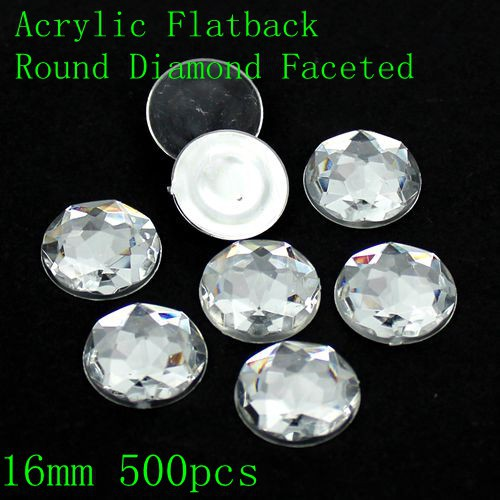 Acrylic Flat Back Round Special Faceted Many Sizes Crystal Clear Color Strass Nail Art Supplies DIY Design Rhinestones For Nails special hard concrete nails wall paintings nail