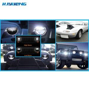 Image 5 - Para Lada Niva 4x4 urbana Defensor 4x4 off road Luz Dianteira Faróis Redondos 7 polegada Farol offroad LEVOU Cabeça de Condução Lâmpada de Luz