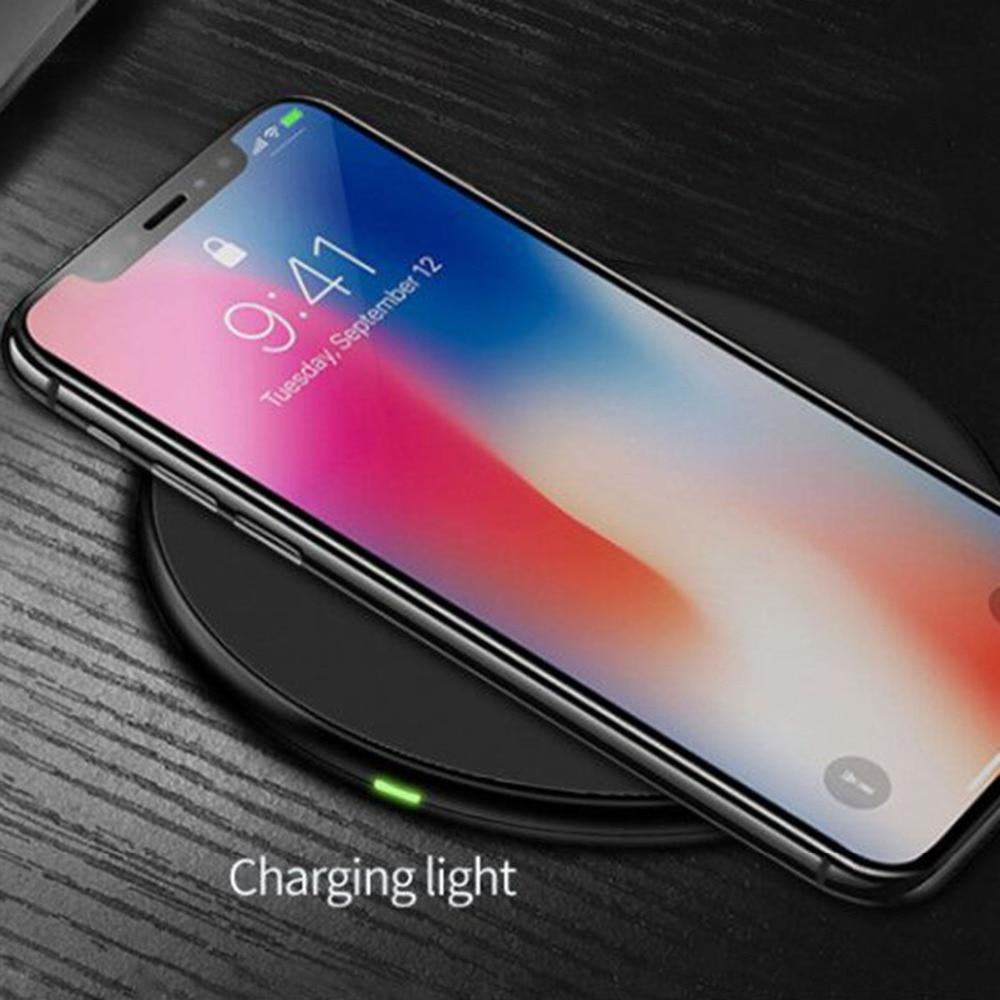 Qi android sans fil chargeur pour android téléphones Pour 6 7 8 x iphone 6 7 8 X xiao mi samsung galaxy s8 plus sans fil chargeur 10 w