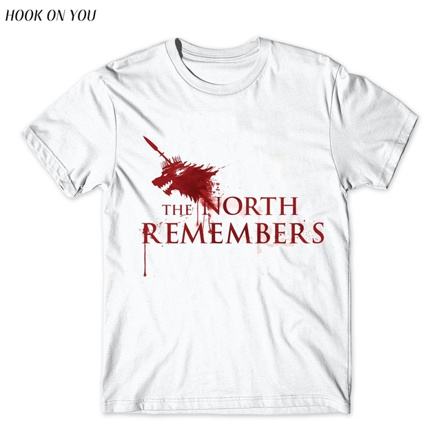 The North Remembers Blood Wolf Mens T-shirt
