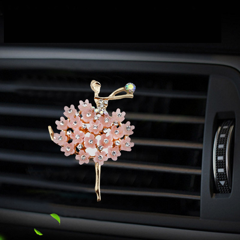 Inlay Water drill Ballerina girl car Air conditioning outlet perfume car perfume car interior accessories car fragrance in Air Freshener from Automobiles Motorcycles