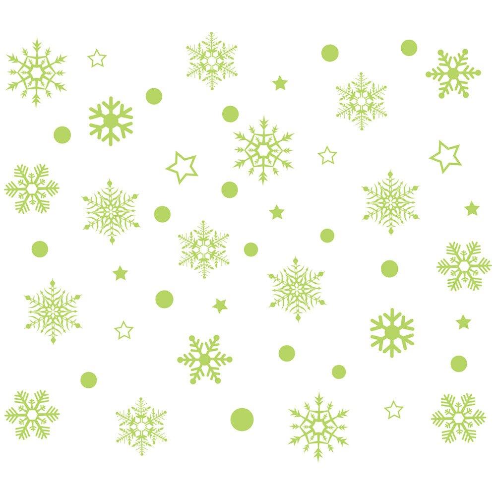 Christmass Wall Stickers Luminous Glow In The Dark Diy Decals Stiker Switch Lampu Kucing Gantung Aeproductgetsubject