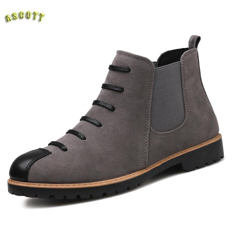 лучшая цена Martin Fashion Boots For Men Boots Chelsea Boots High Boots Bangnan Personality Trend In Winter