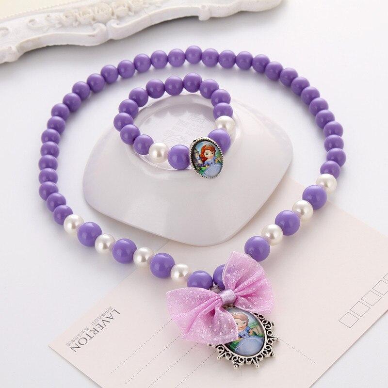 Terbaru Putri Beads Kalung Gelang Perhiasan Set Hadiah Natal untuk - Perhiasan fashion - Foto 3