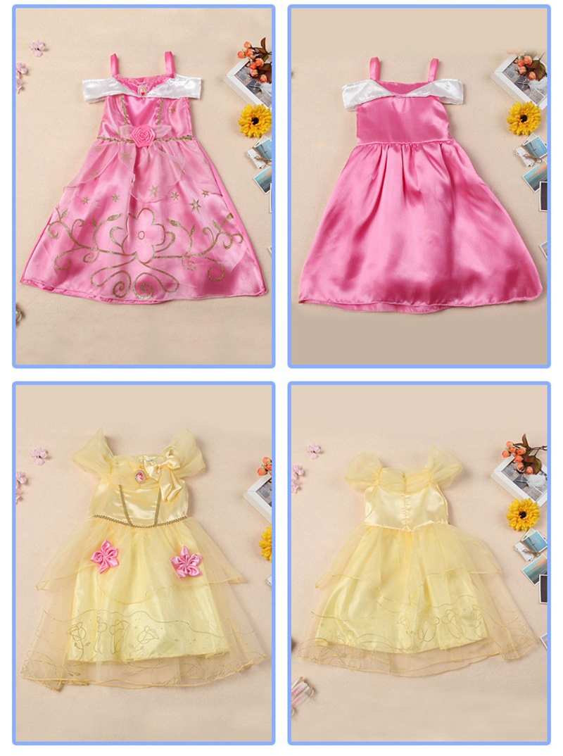Belle Dress for Kids Costume Rapunzel Party Wedding Dress Costume ...