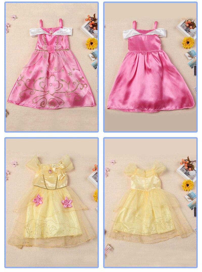Belle vestido para niños traje Rapunzel vestido de boda del partido ...
