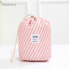 Oxford Tuch Reise Nehmen Kristall Box Blume Farbe Zylinder Make Up Organizer Acryl Kordelzug Kosmetische Paket Make Up Tasche