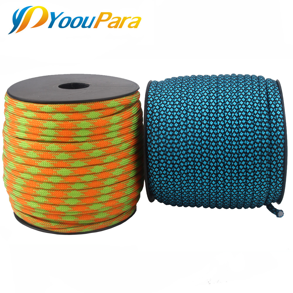252 Colors 100FT Spools 10 Pcs Paracord 550 Rope Type III 7 Stand Parachute Cord Outdoor
