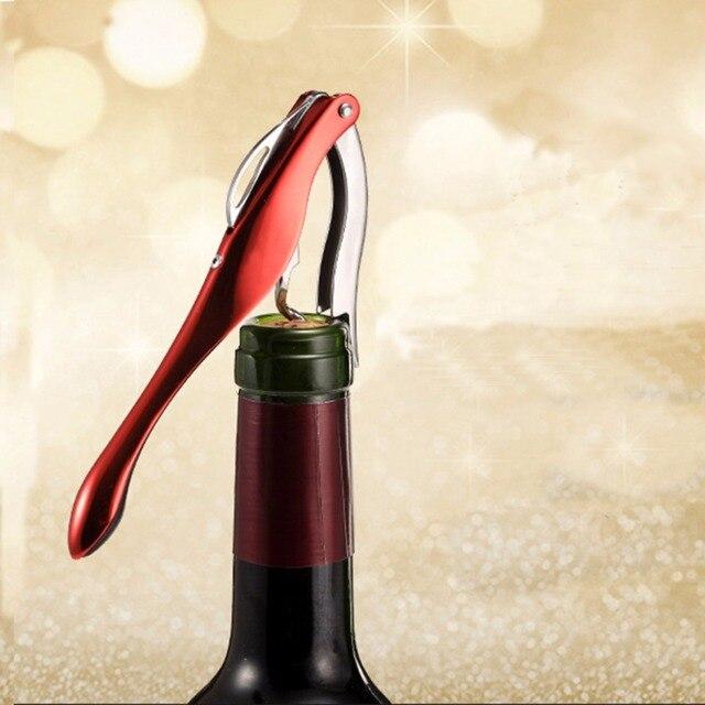 Stainless Steel Corkscrew Wine Bottle Opener Cheap Portable Screw Corkscrew For Christmas Bar Tools