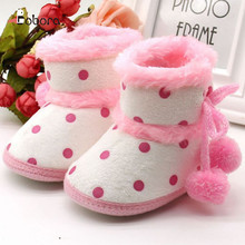 Autumn Winter Brand High Cute Boots Toddler First Baby Boy Girl Shoes Sneakers Moccasins Boots Hot Sapato Menina(China)