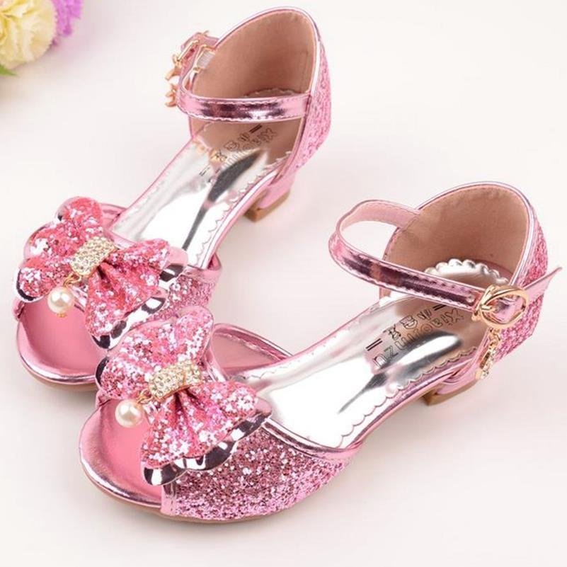 66111d8c92f37 qloblo filles en cuir Bowtie Party enfants princesse sandales ...