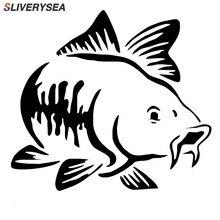 SLIVERYSEA 15*15cm Car Sticker Marine Animal Fish Window Reflective Stickers Car Styling Decoration Sticker Auto Accessories