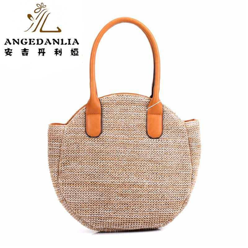 7e76c3218d ... summer lady pp beach straw rounded handbag Hippie Gypsy Chic Women Tote  Bags BOHO Ethnic Bag ...