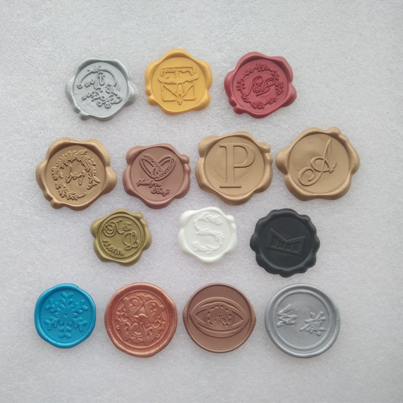 Hign-end Gift Packaging Colored Sealing Wax Stickers Custom Logo 40 Colors