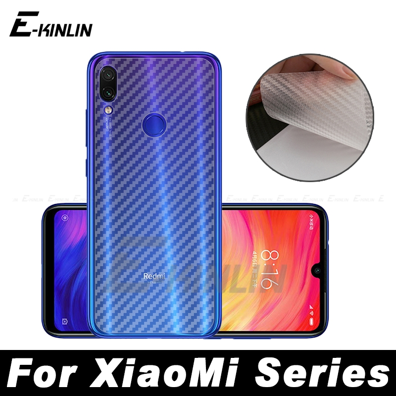 3D Carbon Fiber Back Cover Screen Protector Protective Film For Xiaomi Redmi Mi 10 9 8 Note 8T 7 Pro 6 9S Max Not Tempered Glass(China)
