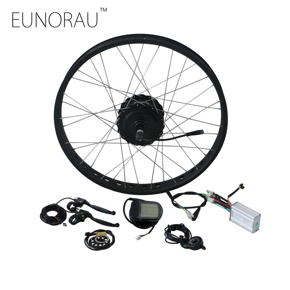 EUNORAU 48V750W  Bafang FAT tire 20'' 26'' rear hub motor Electric fat bike motor Conversion Kit free shipping pasion e bike 48v 500w electric fat bikes bicycle gear hub motor conversion kit bafang 190mm 26 rear wheel 80mm rims
