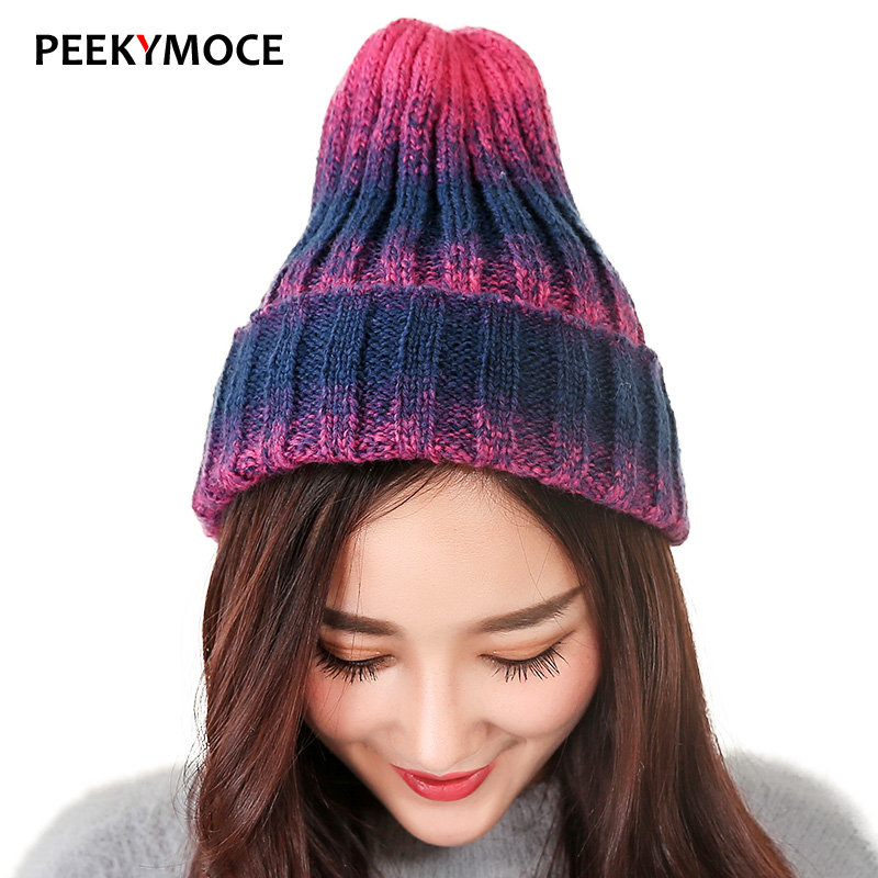 New Fashion Women Warm Winter Hats girl 's Casual Beanie Favourite Knit Hat Skullies & Beanies Cap Hip Hop Bonnet Female Caps 2016 limited gorro gorros brand new women s cotton hip hop ring warm beanie cap winter autumn knitted hats beanies free shipping