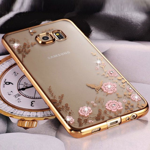 Bling Diamond Clear Case for Samsung S8 S9 A8 A6 J4 J6 plus A7 2018 Silicone
