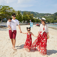 Baby Girl Clothes Family Look Mother Daughter Dresses Family Matching Clothes Girls Dress Holiday Beach Dresses