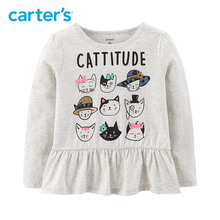 Carter's Cattitude Matchtastic Tee Cute long sleeve cartoon print cotton girls t-shirt 253I046