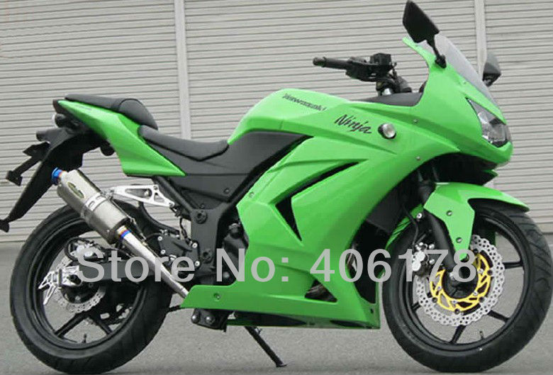 Hot Sales,Fairing For Kawasaki 250R EX 250 2008-2012 Green Sport Motorcycle Fairings ninja 250r for sale (Injection molding) велосипед stark tank 26 2016