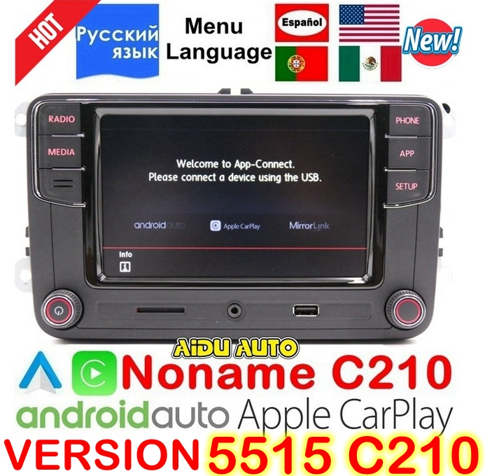CarPlay Android Auto RCD330 RCD340 Plus Noname Radio 187B C210 Pour VW Tiguan Golf 5 6 Jetta MK5 MK6 Passat CC Polo 6RD035187B