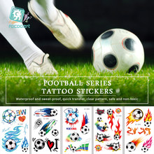 Rocooart Football Fans Tattoo Stickers Soccer Game Fake Taty Body Art Waterproof Temporary Tattoo For Football Cup Match Party(China)
