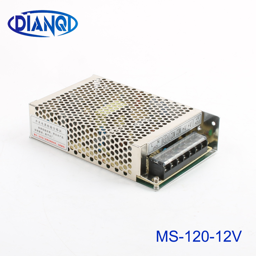 DIANQI power supply MS-120W-12V 10A power suply MS 120W 12V mini size power supply unit led ac dc converter MS-120-12 image