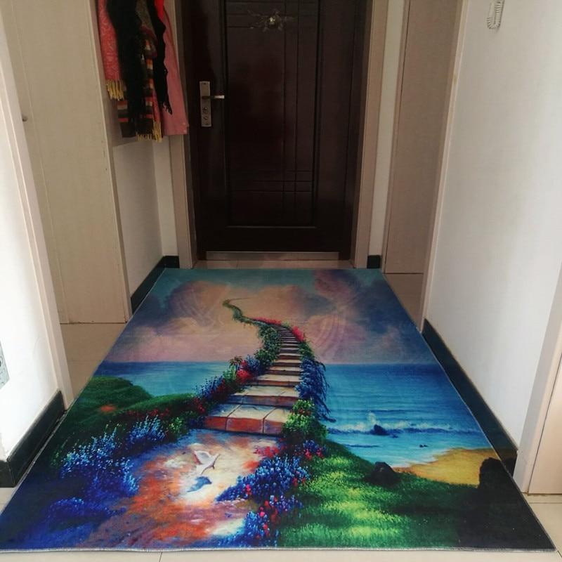 3D carpet living room Carpets bedroom hall entrance hallway aisle mat bathroom kitchen non-slip door mat Medeiterranean style 1