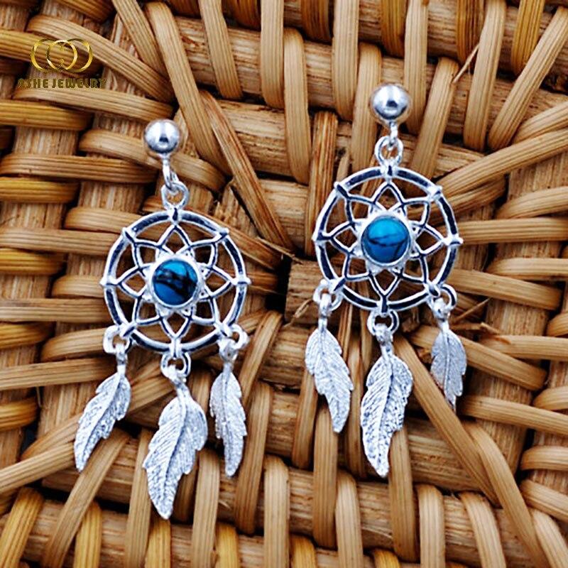 TJP S925 Sterling Silver Korean Tassel Net Drop Earrings Earings Fashion fine Jewelry 2018 For Women Pendientes Boho