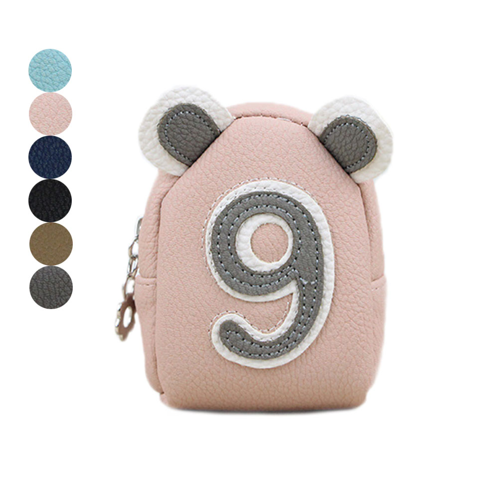 Popular Number Change Wallet Clutch Money Bags Kids Gifts Cute Girls Mini Coin Purse PU Leather Zipper Card Bag Key Holder