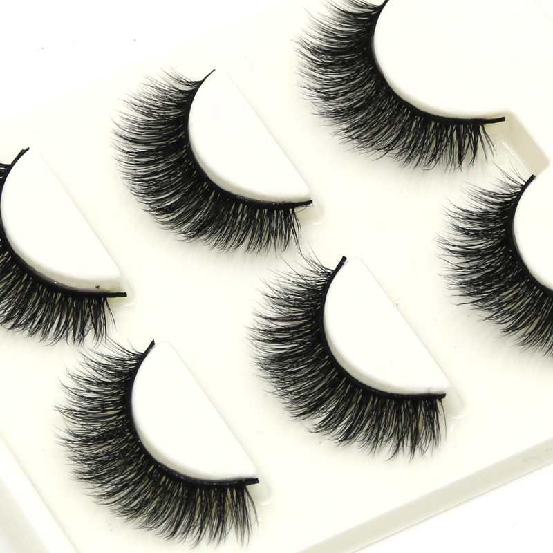 YOKPN Handmade Crisscross Clutter Fake Eyelashes Natural Long 3D Multi Layer Thick Fake  ...