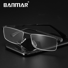 BANMAR Anti Blue Light Glasses Alloy Metal Square Eyeglasses Men Myopia Prescription Full Optical Frames Eyewear 5014