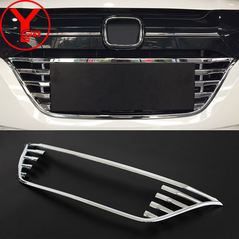 ABS chrome grille cover for <font><b>honda</b></font> vezel <font><b>hrv</b></font> h-rv <font><b>hrv</b></font> 2014 2015 2016 2017 car racing grills for <font><b>honda</b></font> <font><b>hrv</b></font> <font><b>accessories</b></font> 2018 YCSUNZ image