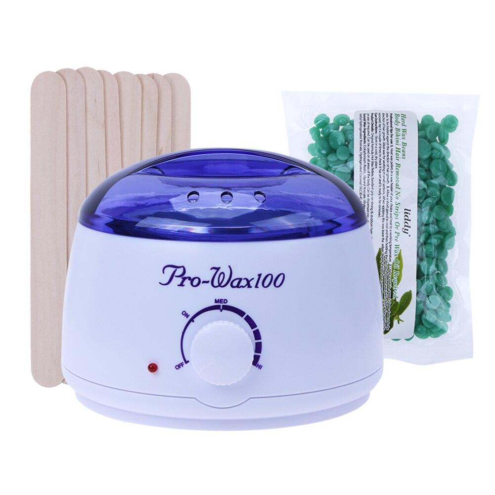 Temperature Adjustable Wax Heater Hair Removal Cream Pearl Wax Beans Warmer Heater Professional Epilator (US 220V) недорого