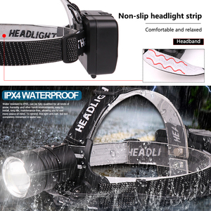 Image 4 - 8000 Lumen XHP 70.2 led Headlamp Fishing Camping headlight High Power lantern Head Lamp Zoomable USB Torches Flashlight 18650