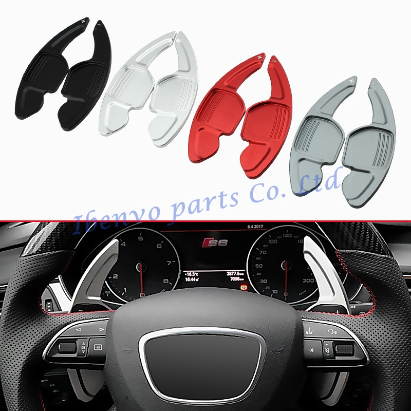 Car Styling Steering Wheel Gear Extension Paddle Shifter For Audi A3 A4 S4(B8) A5 A6 S6(C7) Q3 Q5 Q7 TT/TTS Vehicle Accessories genuine leather car steering wheel cover for audi a4l a6l a3 q3 q5 q7 car accessories styling