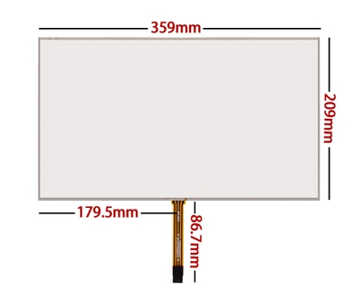 15.6 inch touch screen notebook LCD resistor, four line handwriting thickening, industrial grade glass free delivery 359*209 n101l6 l02 10 1 inch notebook lcd screen