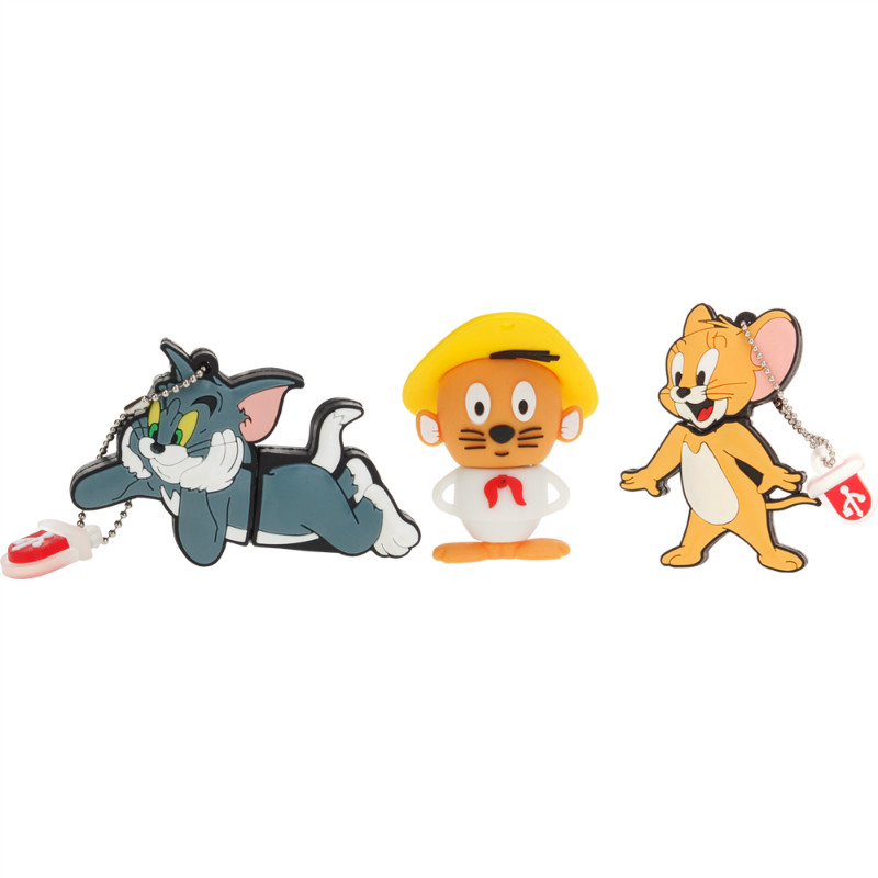 Image 4 - Classic Usb Flash Drive 32gb 64gb 128gb Tom And Jerry Pen Drive 4gb 8gb 16gb Lovely Pendrive USB 2.0 Flash Disk Free Shipping-in USB Flash Drives from Computer & Office