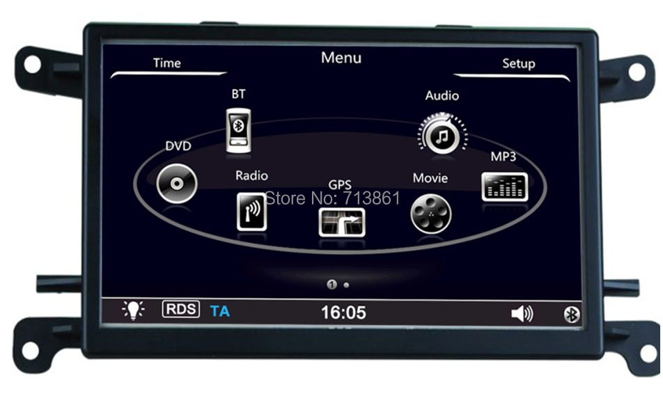 7 inch android 4.4 Car GPS Navigation fit for Audi A5,Q5,BT,wifi,canbus,keep original cd,support dvr,obd,English,russian