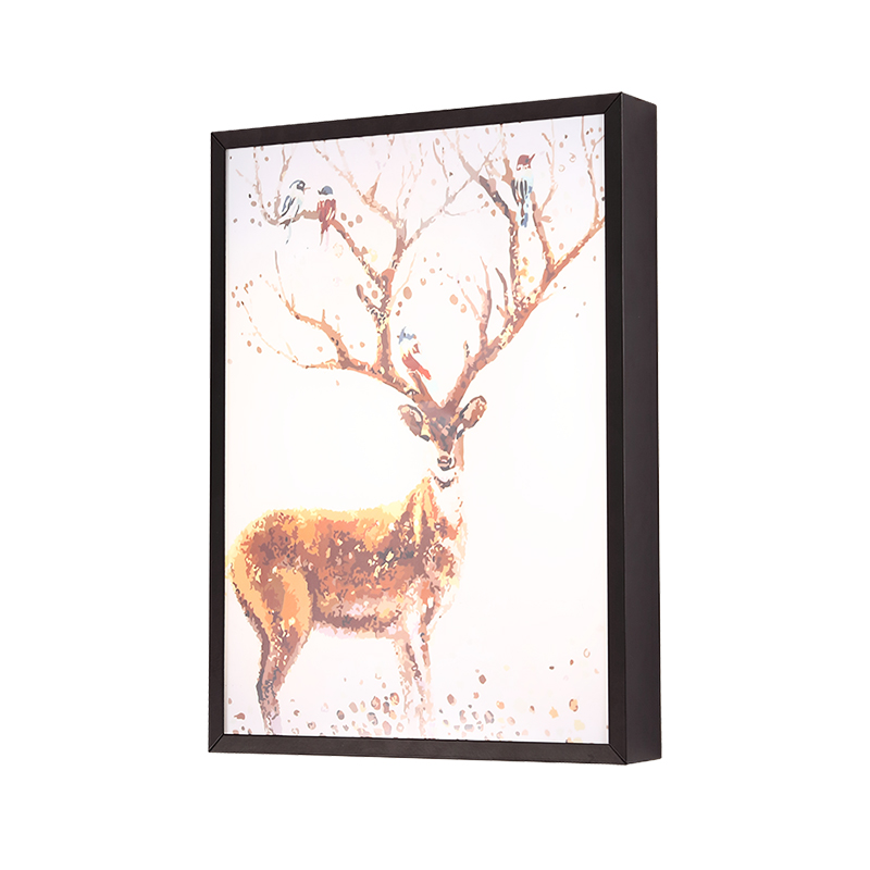 LED Wall Lamp Modern Arts Colorful Deer Fashion Bedside Light Sconce Fixtures For Kids Room Stairs Bar Cafe Indoor Home Lighting 12w fashion arts painting pvc led wall lamp modern bedside light wall sconces fixtures for stairs bar cafe indoor home lighting