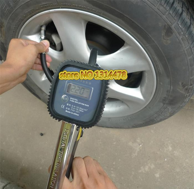 Digital Tire Inflation Gun Inflation and Deflation Tire Pressure Detection Rapid Tire Pump