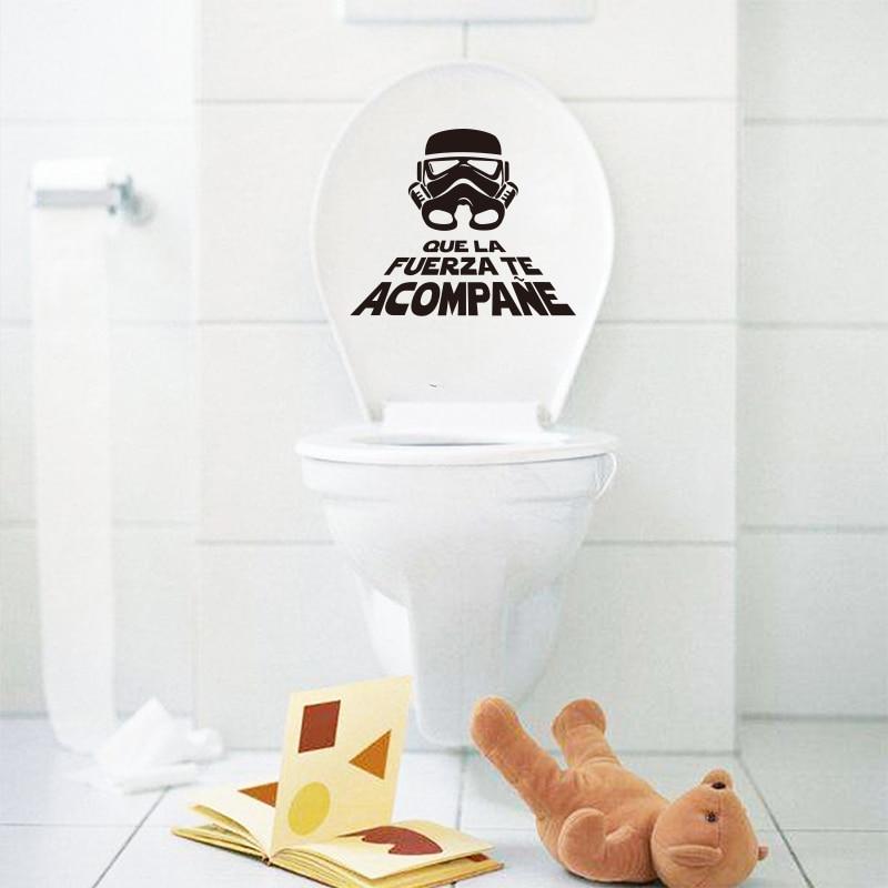 Španělská Hvězdná válka Vinylová samolepka na WC WC Obtisky - Dekorace interiéru