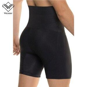 Image 1 - Wechery Kontrol Külot Butt Kaldırıcı Kalça Pantolon Erkekler Için Siyah Yüksek Bel Zayıflama Iç Çamaşırı Adam Ince Karın Göbek Vücut shpaer