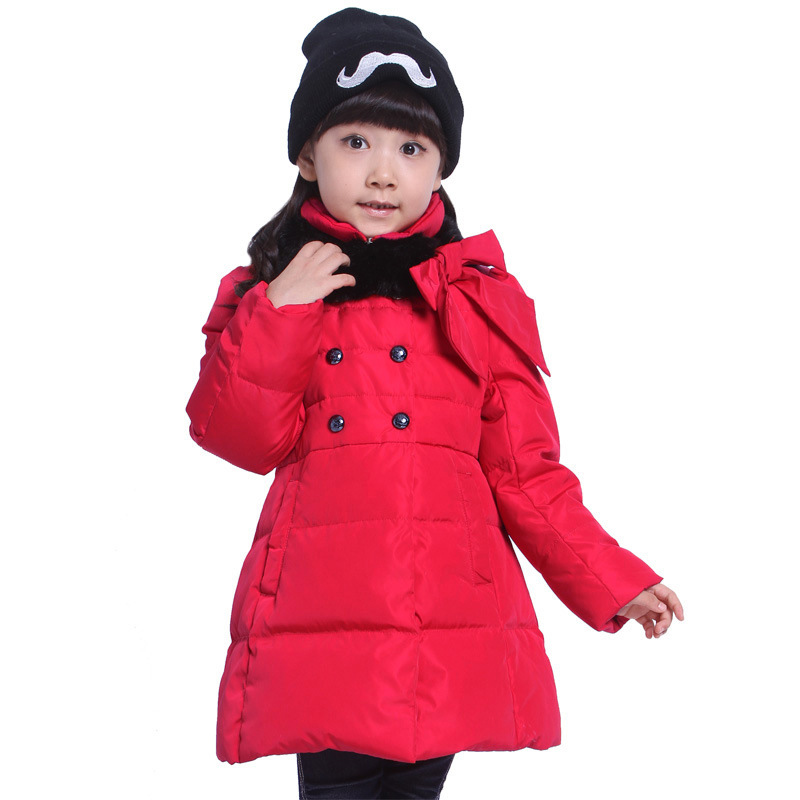 Girl Long Thick Down Jacket Children Winter Hooded Coats Girls Warm Outerwear Suitable For Height 120-160cm mmc brand children s winter thick warm brief style gradient splice high quality hooded down coats for girls 90