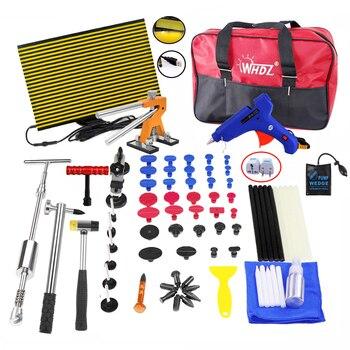 WHZD PDR набор инструментов для безболезненного ремонта вмятин для удаления вмятин, автомобильные инструменты для ремонта вмятин, клеевой пис...