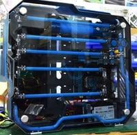 MOD Полный Алюминий и двойное закаленное стекло Корпус для охлаждения воды i7 7700 k 8G/16 GB 1 T GX 1080 ATX DIY игровой компьютер настольный ПК